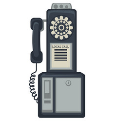 50s street phone telephone apparatus call vector