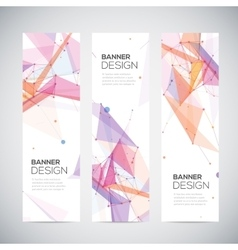 Abstract geometric banner design Geometric vector