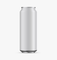 aluminum cans empty 500ml on white background vector image
