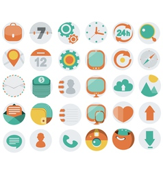 Application Web Icons in Flat Design vector