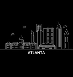 Atlanta city silhouette skyline usa - atlanta vector