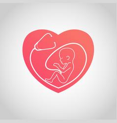 baby logo center icon vector image