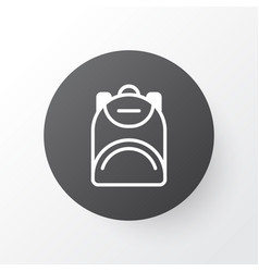 backpack icon symbol premium quality isolated vector image vector image