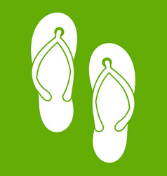 beach thongs icon green vector image