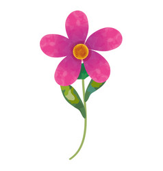 Beautiful flower decoration icon vector