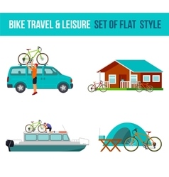 Bicycle travel and leisure vector