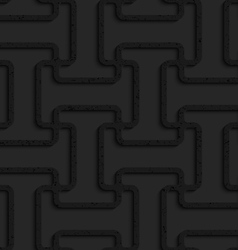 Black textured plastic double T grid vector