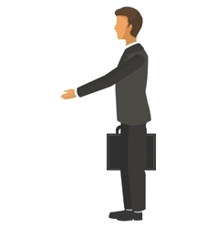 Businessman with stretched arm icon vector