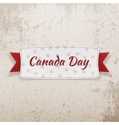 Canada Day Holiday Tag with Text and Ribbon vector
