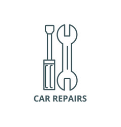 car repairs line icon car repairs outline vector image