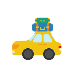 car with luggage vector image