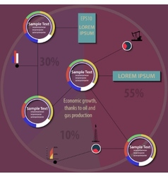 Chart of economy vector