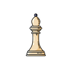 chess white bishop flat icon isolated on white vector image