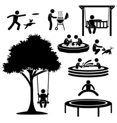 Children home garden park playground backyard vector