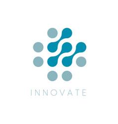 circles icon innovator logo template vector image