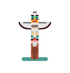 Colorful indian totem icon vector