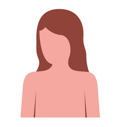 colorful silhouette of female half body and vector image
