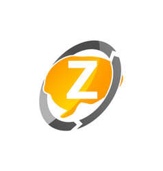 creative thinking letter z vector image