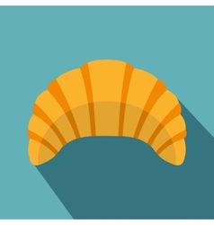 Croissant icon flat style vector