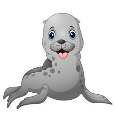 Cute baby seal cartoon vector