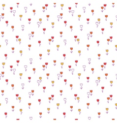 Cute floral seamless pattern with Background with vector
