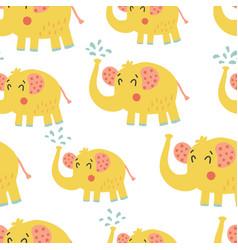 Elephant pattern vector