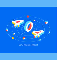 Error 404 page design concept vector