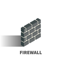 firewall icon symbol vector image
