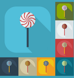 Flat modern design with shadow icons candy vector