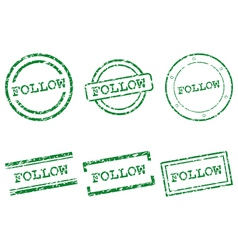 Follow stamps vector image