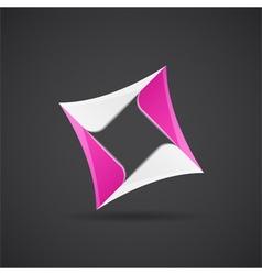Glossy rhombus figure vector image