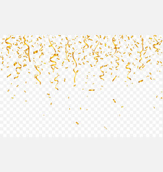 gold confetti celebration carnival ribbons luxury vector image