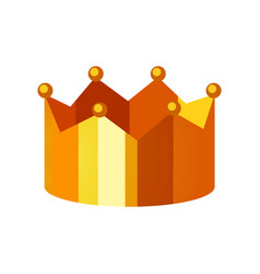 gold crown logo template on white vector image