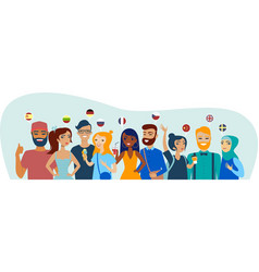group students speaking different languages vector image