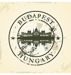 Grunge rubber stamp with Budapest Hungary vector