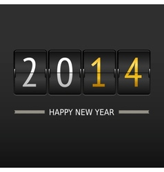 Happy new year 2014 card Mechanical timetable vector