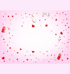 Happy valentines day card yemplate vector