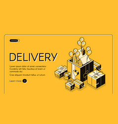 holiday gifts delivery service website vector image