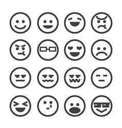 Human emotion icon vector