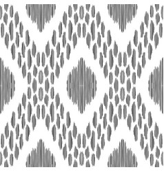 Ikat seamless pattern ethnic ornament vector