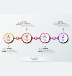 infographic design template with timeline vector image
