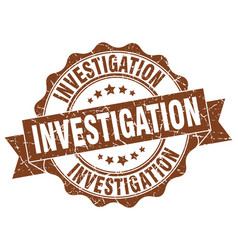 Investigation stamp sign seal vector