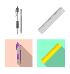 isolated object of office and supply icon set of vector image