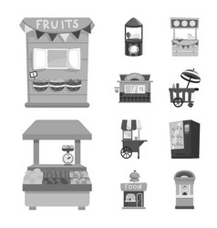 Isolated object service and storefront logo vector