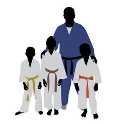 judo team vector image