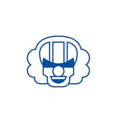 killer clown emoji line icon concept killer clown vector image