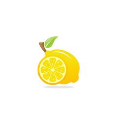lemon fruit logo vector image