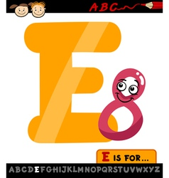 letter e with eight cartoon vector image