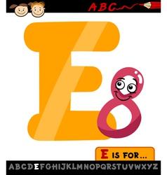 Letter e with eight cartoon vector