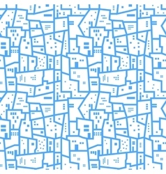 Light blue abstract urban seamless pattern vector image